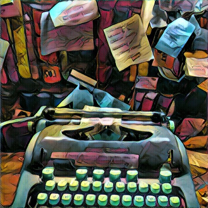 Typewriter from Shakespeare and Company