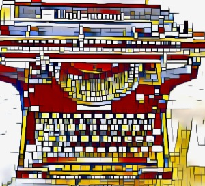 cubist Old Fashion Typewriter